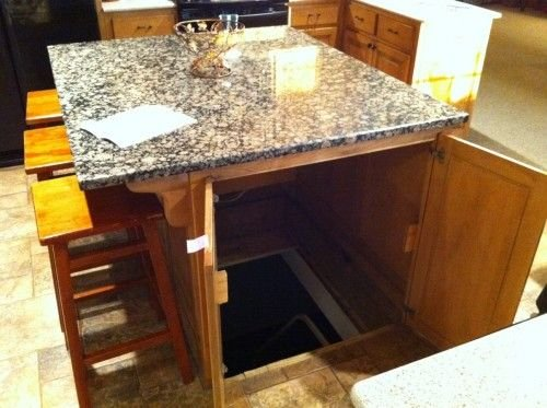 awesome, kitchen, secret door, table