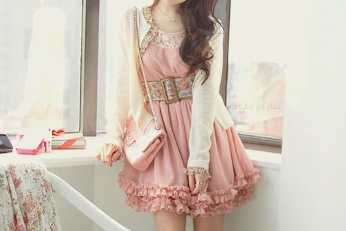 bag, belt, cuute, dress