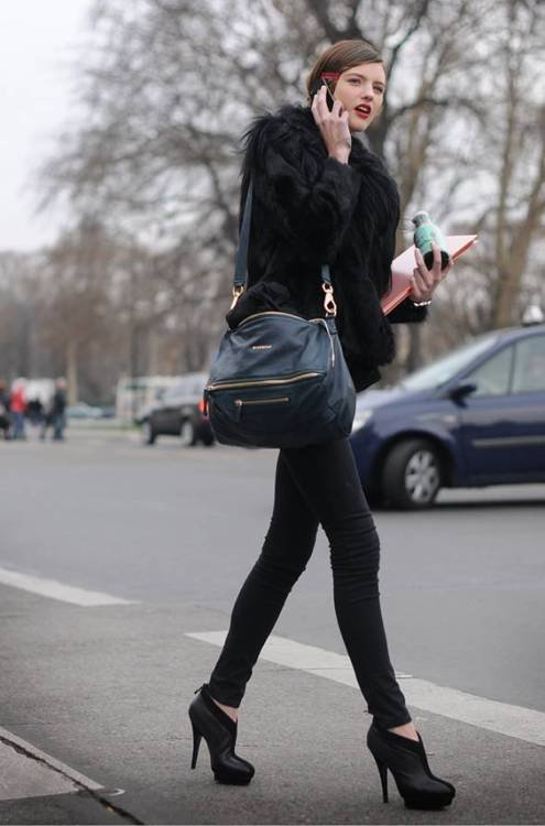 bag, black, fashion, girl