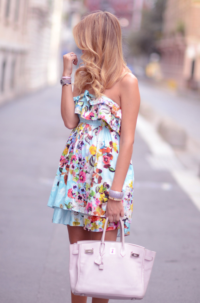 bag, blonde, bracelets, colors