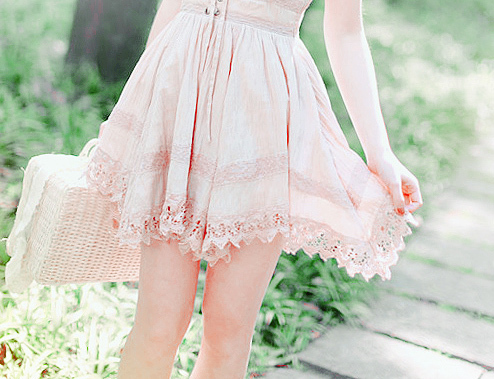 bag, fashion, fashionable, girl, lace, lovely, spring, summer