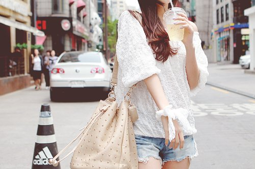 bag, fashion, girl, lace