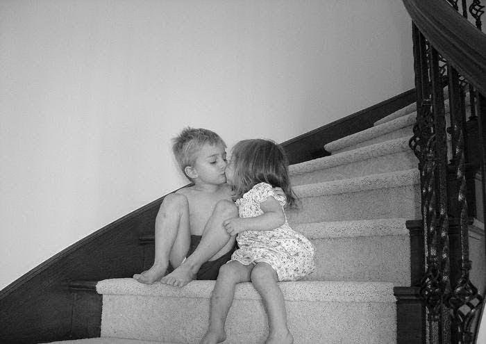 balck and white, boy, casal, children