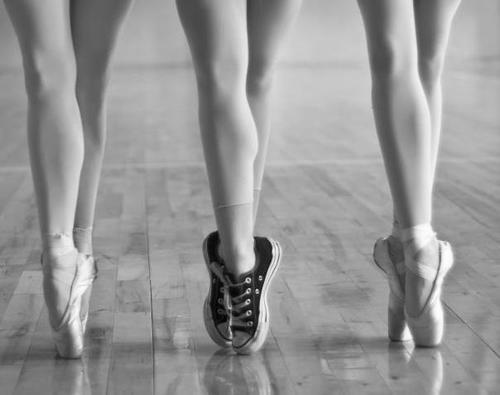 ballet, beautiful, black and white, converse