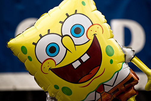 balloon, cartoon, colour, cute, photography, smile, spongebob