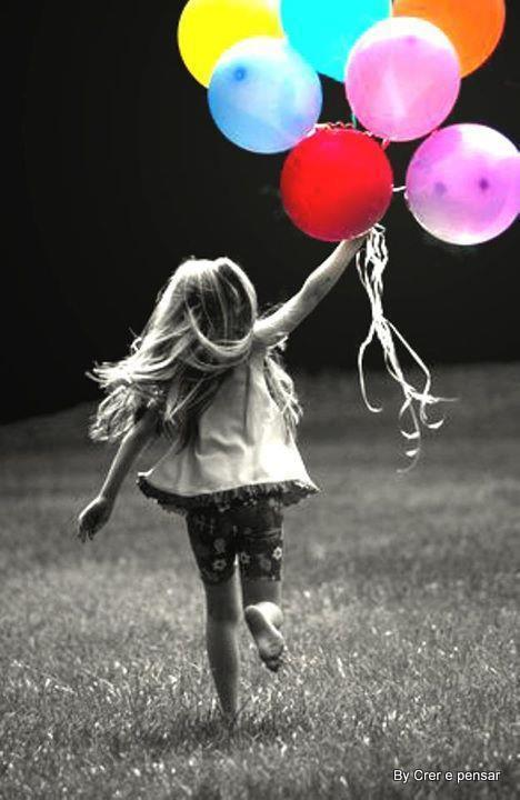 balloons, blonde, colourful, cute