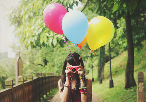 baloons, cool, cute pink, girl