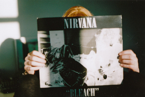 bands, bleach, grunge, lp, music, nirvana, photography, vintage, vinyl