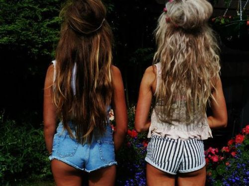 be yourself, bestfriends, blonde, brunette
