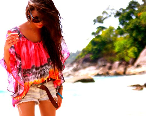 beach, beach style, beautiful, brown hair