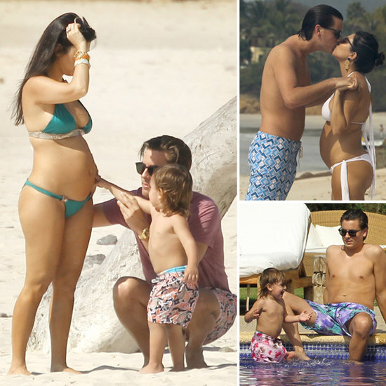 beach, beautiful, colours, cute, family, fashion, happy, kids, kiss, kourtney kardashian, love, mason disick, pregnent, scott disick, summer, sweet