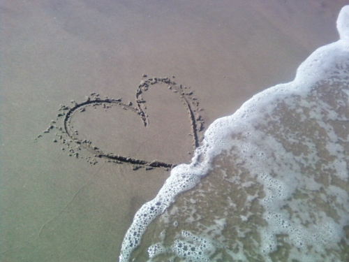 beach, beautiful, cute, heart