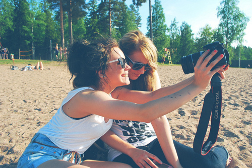 beach, bff, canon, cute