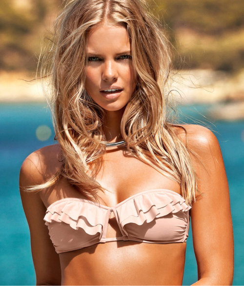 beach, bikini, blonde, fashion