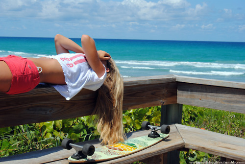 beach, blonde, cool, girl