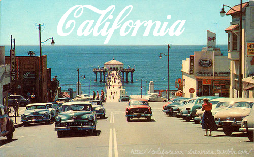 beach, blue, california, cars