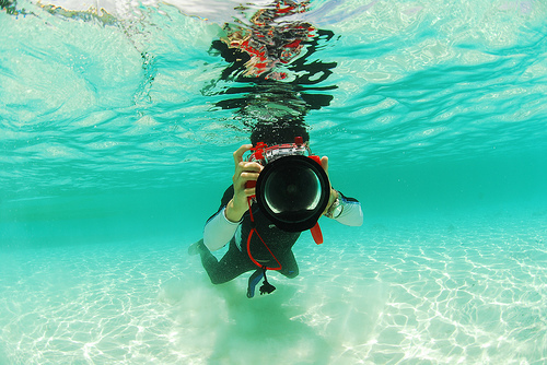 beach, camera, ocean, people, person, photography, sand, sea, under water, water