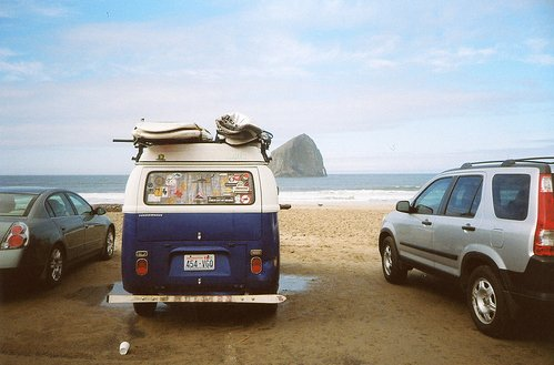 beach, cars, nature, photography, van