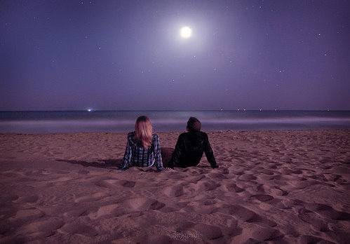 beach, couple, happiness, life, love, lovely, night, photography, pretty, sea, wonderful
