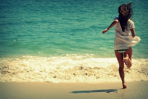 beach, girl, summer
