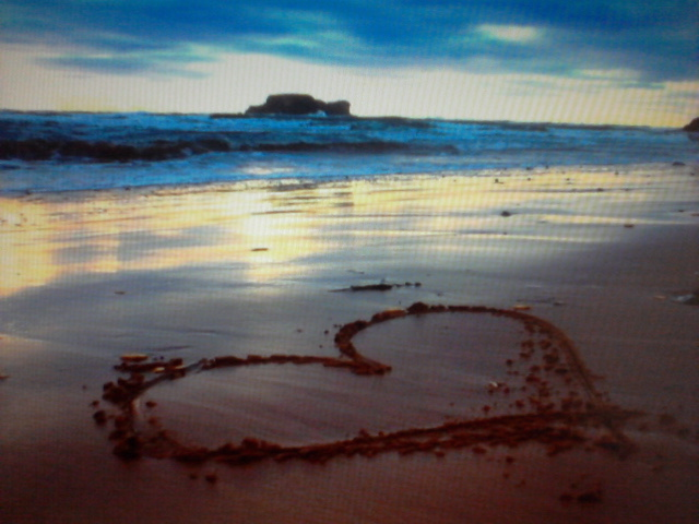 beach, heart, love, lovely