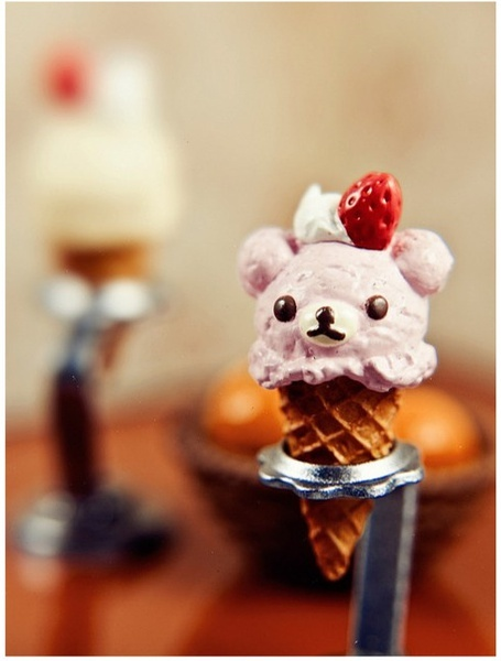 bear, cute, ice cream, kawaii
