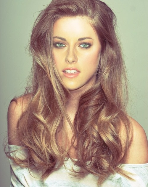 beautiful, beauty, blonde, eyes, fashion, girl, green eyes, hair, kristen, kristen stewart, make up, manip, vintage