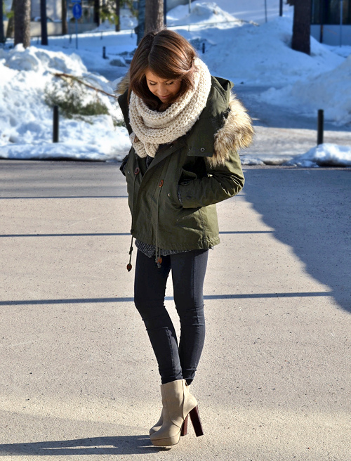 beautiful, beauty, casual, chic, classy, coat, fashion, flawless, forest, fur, girl, hair, heels, high heels, long hair, lovely, mariannan, model, pants, pefect, perfection, pretty, pull over, scarf, skinny, street style, swow, trees, winter, wonderful
