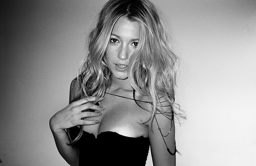 beautiful, black and white, blair, blake lively, blond, blonde, gossip girl, long hair, serena