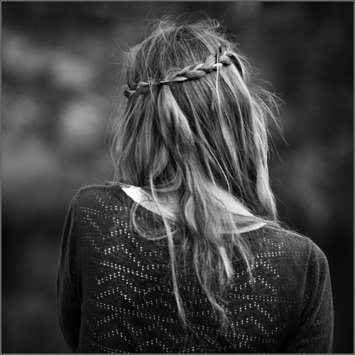 beautiful, black and white, braid, cute