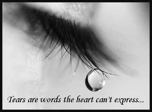 beautiful, black and white, emo quotes, express, heart, tears