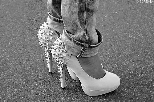 beautiful, black and white, fashion, heel