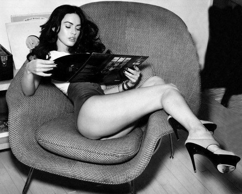 beautiful, black and white, girl, megan fox