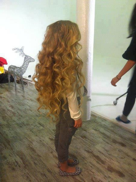 beautiful, blonde, child, curly