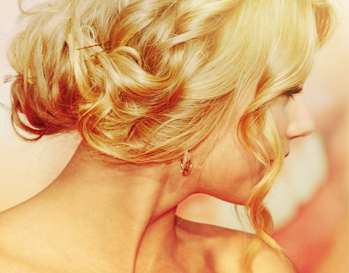 beautiful, blonde, hair, lovely, updo