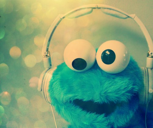 beautiful, blue, cookie monster, cute
