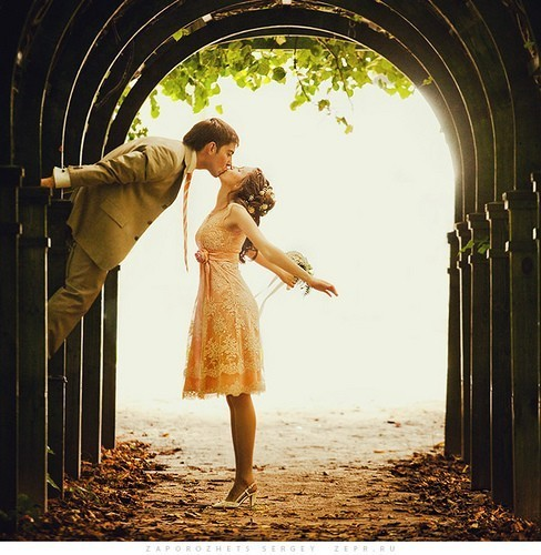 beautiful, boy, couple, dress, girl, kiss, love, vintage