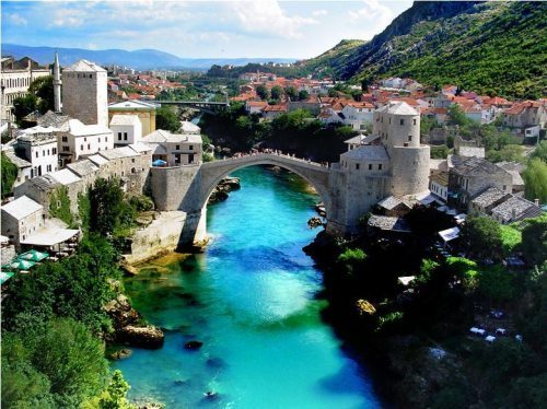 beautiful, bosnia & herzegovina, castle, mostar, scenery, water