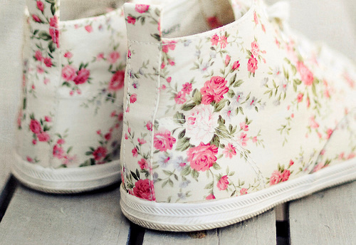 beautiful, colors, cute, flower, flower shoes, for girls, girl, girly, heart it, like it, love it, pink, shoes, summer, want it, white