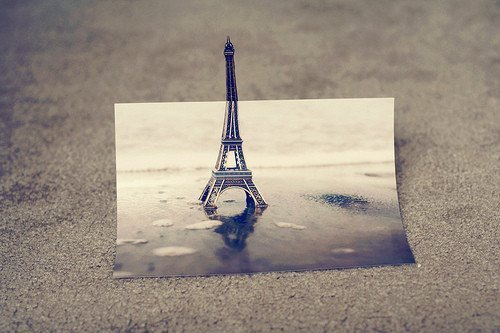 beautiful, cool, eiffel tower, france, paint, paris, photography, pretty, vintage, water
