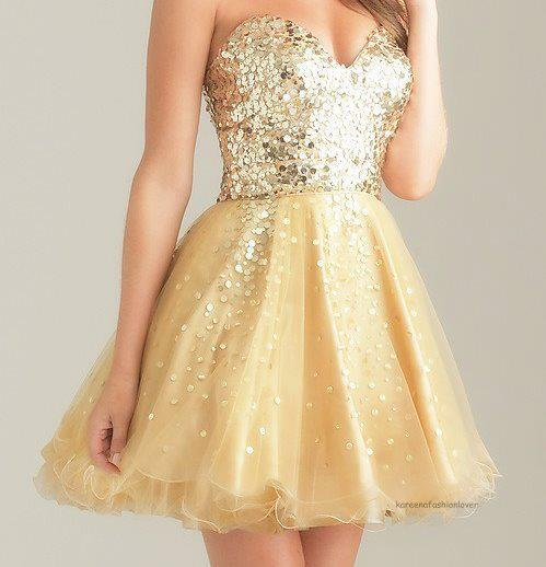 beautiful, cute, dress, girl, glamorous, glamour, glitter, gold, sweet