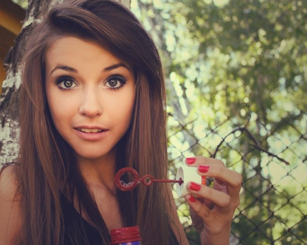 Pretty Girl with Brown Hair