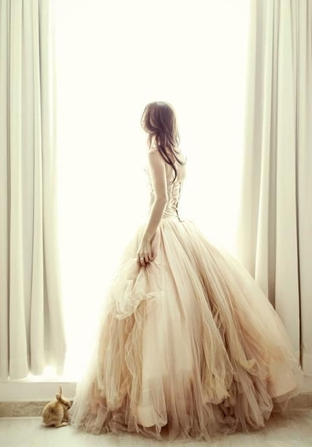 beautiful, dress, fashion, girl, gown, hair, pink, vintage