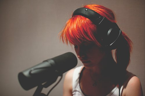beautiful, girl, hayley, hayley williams, paramore, photography, pretty, redhead, rock, singer, singing, studio