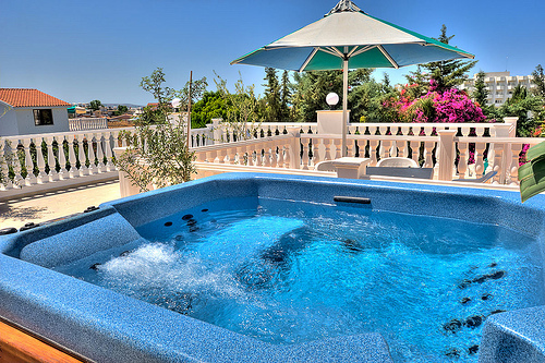 beautiful, jacuzzi, outside, pool