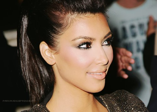 beautiful, kim, kim kardashian, makeup