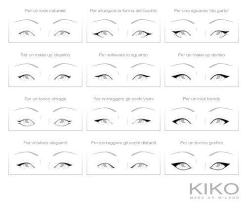 beauty, diy, eye, eye linner, eyelinner, eyes, how to, kikko, kiko, make up