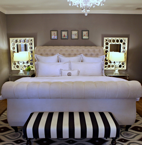 bed, bedroom, interior design, luxury