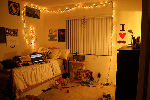 bed, cool, cute, lights, lindo, quarto, room