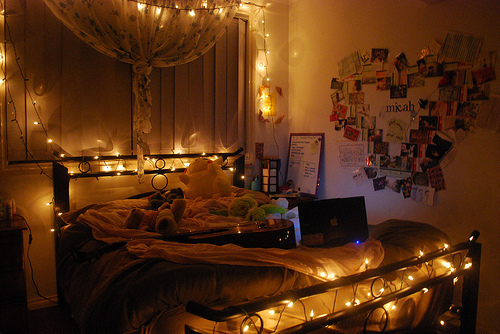 bedroom, lights